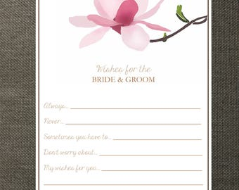 Magnolia Wedding Wishes Cards - Perfect for Weddings, Bridal Showers, and Rehearsal Dinners