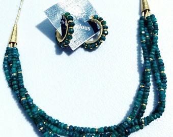 Beautiful Handmade Emerald Necklace and Earring