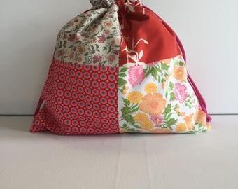 Project Bag - Sock Knitting Bag - Sock Sack - Knitting Project Bag - Crochet Project Bag - Amsterdam Bag - Needlepoint Bag Basic Small