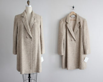 tweed wool jacket | beige tweed coat | oversized jacket