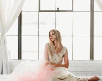 Pink Ombre Veil, Hand Dyed Veil, Bridal Veil, Dip Dyed Veil, Cathedral Veil, Finger Tip Bridal Veil, Tulle Veil, Pink Veil, Blush Veil  1710