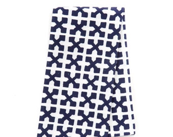 Set of 4 Cotton Dinner Napkins/Jacks in Navy
