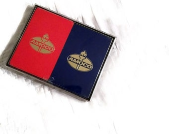 Vintage Amoco Playing Cards, Amoco Chemical Company Advertisement, 2 Complete Decks 4 Jokers,Bridge Size Cards