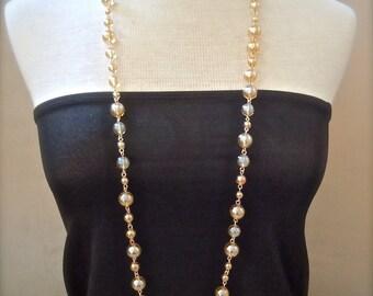 Mimosa -- Champagne Quartz Long Statement Gemstone necklace