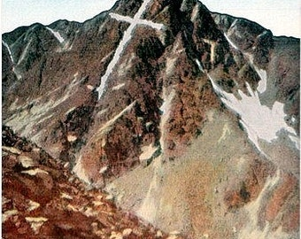 Vintage Colorado Postcard - Mount of the Holy Cross (Unused)