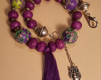 PURPLE TASSEL NECKLACE -  Gift for Her