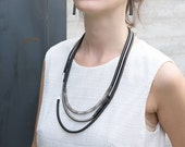 Paloma Necklace | Square Collection | Stainless Steel Jewelry | Contemporary Necklace | Geometric Design | Hand Made | Gift For Her