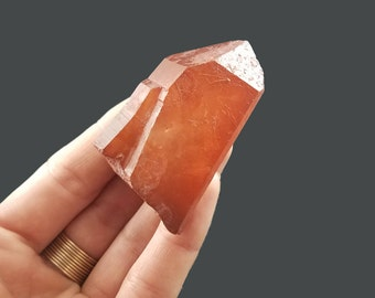 Red Quartz Crystal, Hematite Included From Morocco 2.25x1.40x1''