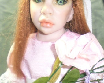 OOAK Polymer Clay art doll little girl