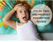 Etsy SEO/ Custom Etsy SEO/ Etsy success/ Product Description Review/ Custom Etsy Item Description Review / Etsy Critiques/ Etsy shop SEO