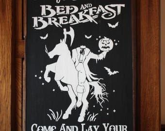 Sleepy Hollow Bed & Breakfast Wall Sign