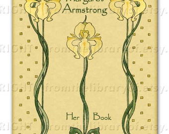 Golden Iris  - ADHESIVE Bookplate -  Personalized Bookplate -  - Lovely Gift - Perfect Personalized Gift