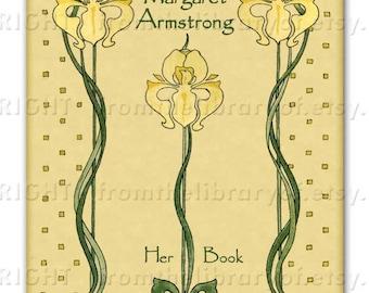 Yellow Iris  - ADHESIVE Bookplate -  Personalized Bookplate -  - Lovely Gift - Perfect Personalized Gift