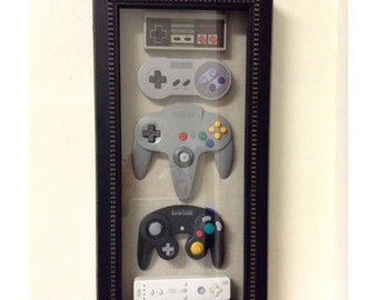 Nintendo History Decor Shadow Box Framed