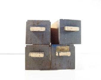 Vintage Wood Shop Drawer / Rustic Storage Bin