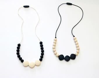 Classy Teething Necklace  | Silicone Teething Necklace | Breastfeeding Necklace | Silicone Nursing Necklace | Baby Shower Gift Trendy