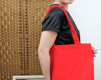 Narrative Logo Red and Pink Tote Bag