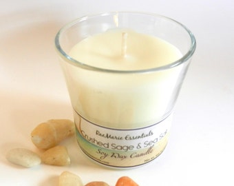 New Crushed Sage & Sea Salt Soy Candle