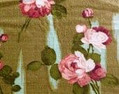 Vintage Fabric, Barkcloth, Barkcloth Curtain, NOT Reproduction, UK Seller