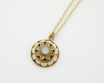 Vintage Swarovski Opal Necklace