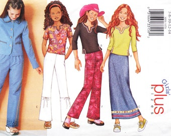 Butterick 3054 Girl's Jacket, Top, Skirt and Pants Sewing Pattern