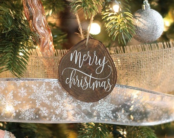Wooden Merry Christmas Ornament - HD-43