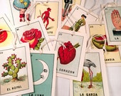 POST-XMAS SALE: New Vintage Mexican Loteria Gift Tags - set of 12