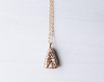 Teepee Necklace || Miniature Teepee Necklace || Mini Teepee Necklace