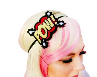 Comic Book Headband, Superhero Girls, Gifts For Geeks, Gift Under 20, Superhero Headband, Comic Book Pow, Geek Chic, Geek Gift, Graduation