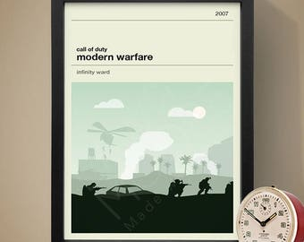 Call of Duty: Modern Warfare Gaming Print, Gaming Print, Games, Call of Duty Poster