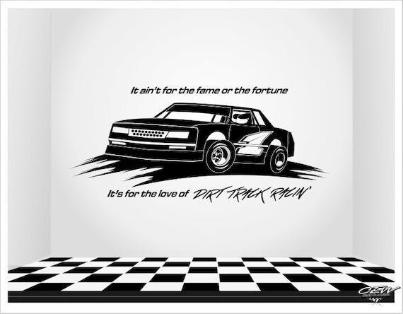 Racing Wall Decal Unique Racecar Wall Decor Custom Dirt - Car vinyl decals