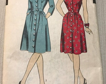 Vintage Hollywood Four Star Pattern - Fitted Day Dress