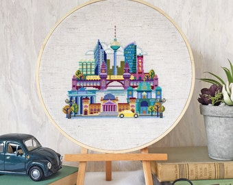 Pretty Little Berlin - Satsuma Street Modern Cross Stitch Pattern PDF - Instant download