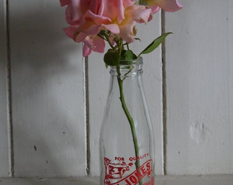 Vintage Milk Bottle - Ideal Flower Vase
