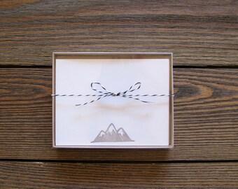 Letterpress Mountain Stationary Set