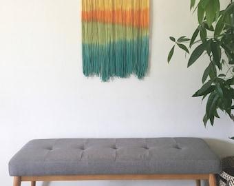 Dip Dyed Wall Hanging - Boho Wall Hanging - Dip Dye Tapestry - Nursery Decor - Fiber Art