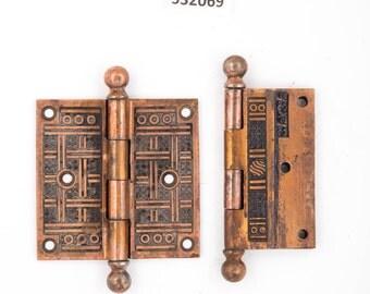 Antique Crosshatched Bronze Hinges 532069