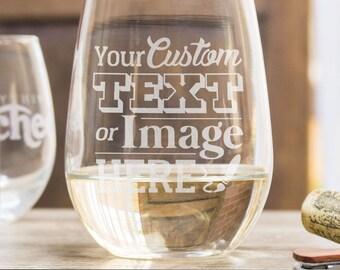 Custom Wine Glasses, Stemless Wine Glasses, Engagement Gift, Funny Wine Glasses, Wedding Glasses, Engraved Wine Glasses, Monogram Glasses