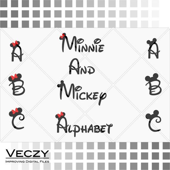 mickey and minnie mouse font walt disney font alphabet svg. Black Bedroom Furniture Sets. Home Design Ideas