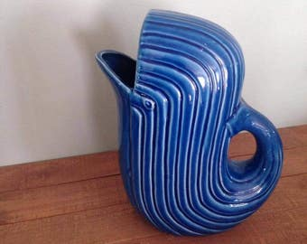 Large Blue Whale Pitcher, Whale Pitcher, Nautical Kitchen, Water Pitcher
