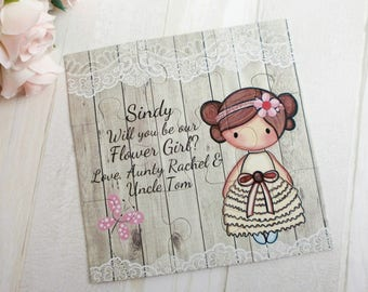 Will You Be Our Flower Girl Gift Will You Be My Flower Girl Puzzle  Personalized Flower