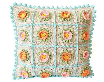 Crochet cushion pattern/Cushion pattern/Crochet cushion/Crochet pillow pattern/Crochet pillow/ Pillow pattern/Crochet cushion flower pattern
