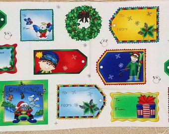 Holiday Gift Tags Panel