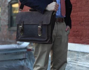 Custom Colby Men's Leather Messenger Bag