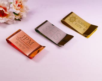 Personalised Copper Money Clip, Men's Gift, Groomsmen Gift, Grooms Gift, Custom Money Clip, Engraved Money Clip, Gift For Him, Engraved Clip