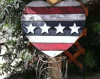 Rustic Art - Americana/Chicago Flags