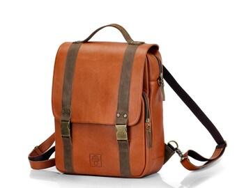 Men's Leather Backpack | Large Laptop Rucksack | Large backpack for men | Brown backpack | Handsome backpack | Backpack leather | Laptop bag