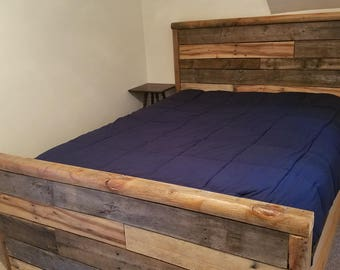 Handcrafted Queen Pallet Bed