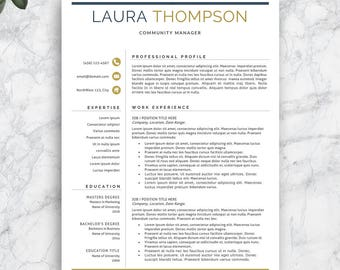 Professional Resume Template, Modern Resume Template, Creative Resume. CV Template. Professional CV Template. Teacher Resume Template.
