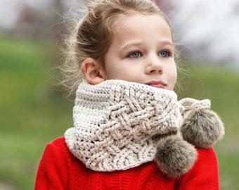 Crochet Scarf Pattern, The Layton Crochet Scarf, Crochet Pattern, Crochet Cowl Scarf Pattern, Crochet Cables, Scarf Pattern, Cabled Scarf